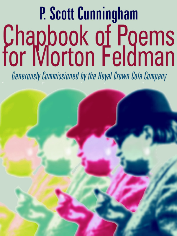 Chapbook of Poems for Morton Feldman cover